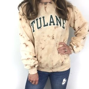 Champion | Tulane Varsity Sweater Bleach Distress
